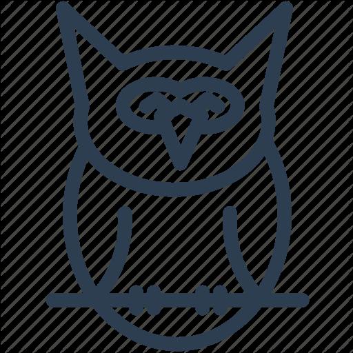 Animal, Cute Owl, Fowl, Halloween, Night, Owl, Owl Bird Icon