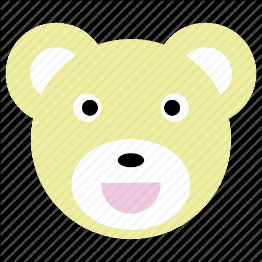 Bear, Cute, Panda, Smile, Yellow Icon