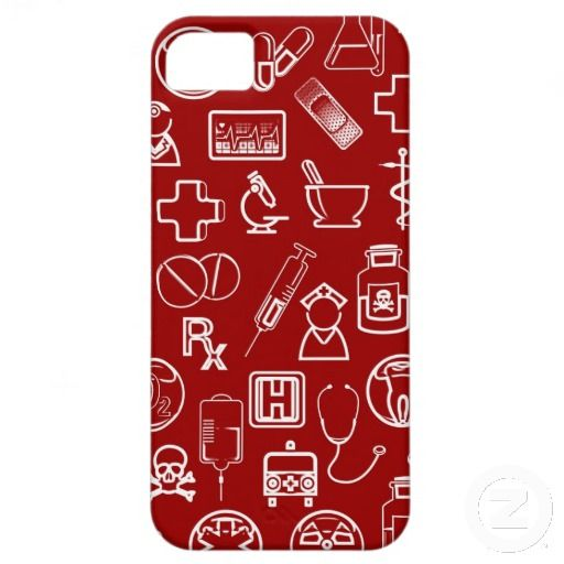 Cute White Red Medical Icons Design Custom Iphone Covers Great