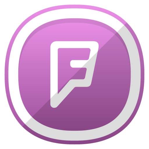 Foursquare Icon Free Cute Shaded Social Iconset Designbolts