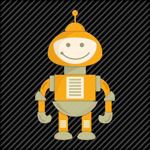 Cartoon, Character, Cute, Droid, Mascot, Robot Icon