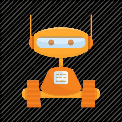 Cartoon, Character, Cute, Mascot, Robot Icon