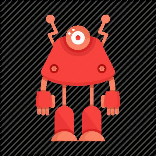 Cartoon, Character, Droid, Mascot, Robot Icon