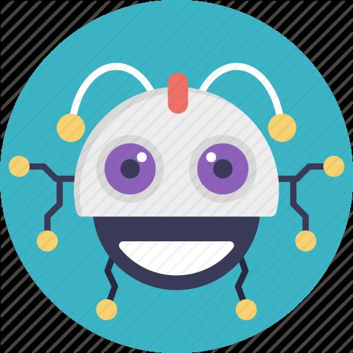 Cartoon Robot, Cute Robot, Robot, Robot Characteristic, Smiling
