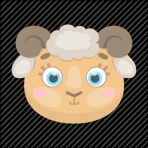 Animal, Cute, Muzzle, Pet, Ram, Sheep, Toy Icon