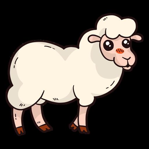 Cute Sheep Wool Lamb Hoof Flat