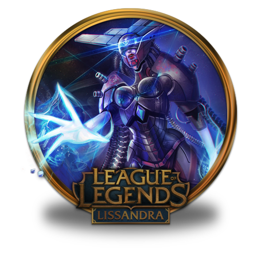 Lissandra Space Cyborg Icon League Of Legends Gold Border