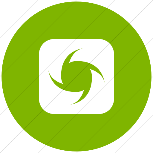 Flat Circle White On Green Ocha Humanitarians Inverse