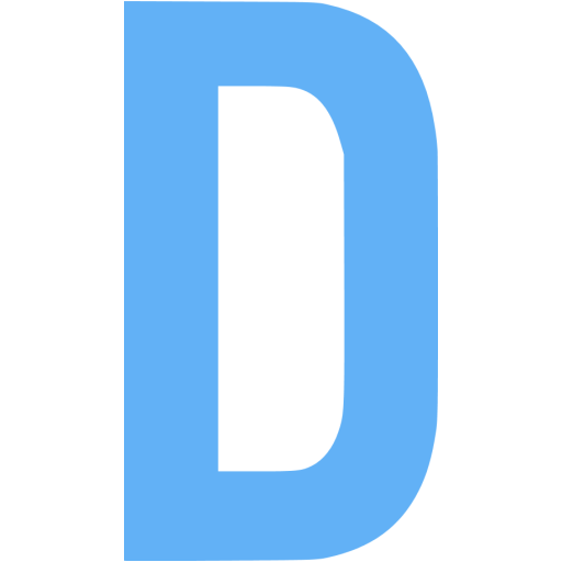 Tropical Blue Letter D Icon