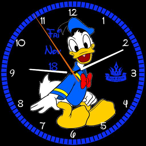 Cartoon Donald Duck Royal Crown Watchfaces For Smart Watches