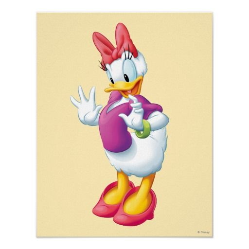 Daisy Duck Surprised Poster I Disney