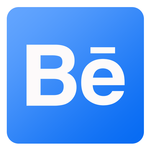 Behance Icon Flat Gradient Social Iconset Limav