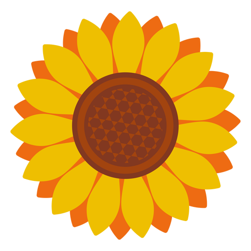 Isolated Sunflower Head Icon