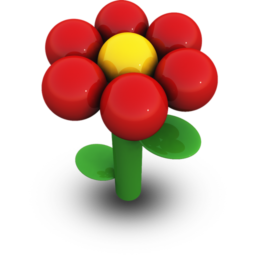 Red Daisy Icon