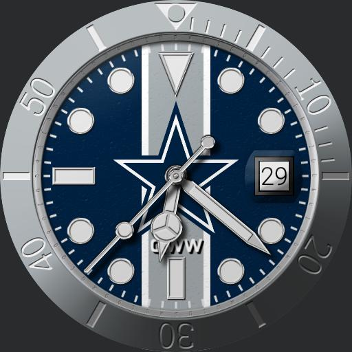 Sports Dallas Cowboys Grondin Diver Watchfaces For Smart