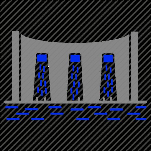 Dam, Eco, Economic, Energy, Power Icon
