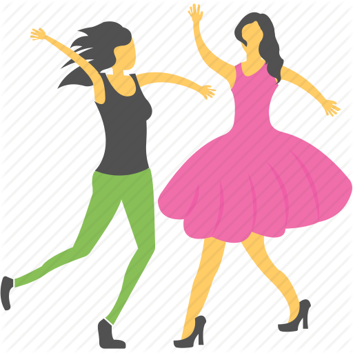 Dance Performance, Dancing, Happy, Party, Two Girls Icon