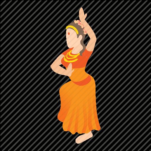Cartoon, Dance, Dancing, Girl, India, Indian, Woman Icon