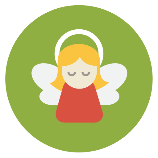 Angel Icon Flat Christmas Circle Iconset Fps