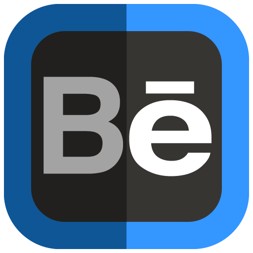 Behance Blue And Black Icon