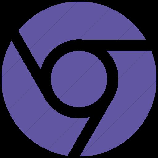 Simple Purple Social Media Chrome Icon