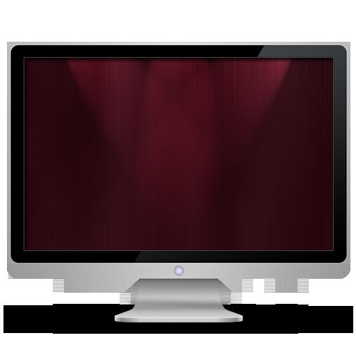 Computer, Dark, My, Red Icon