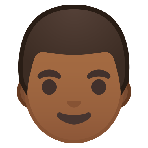 Man Medium Dark Skin Tone Icon Noto Emoji People Faces Iconset