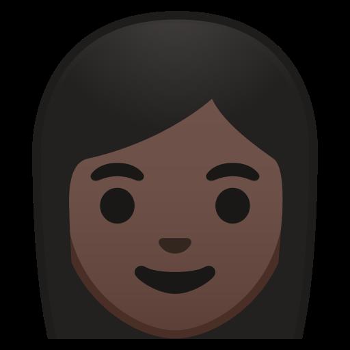 Woman, Dark, Skin, Tone Icon Free Of Noto Emoji People Faces