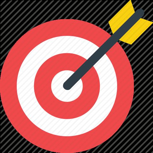 Bullseye, Dart, Dartboard, Objective, Target Icon Icon