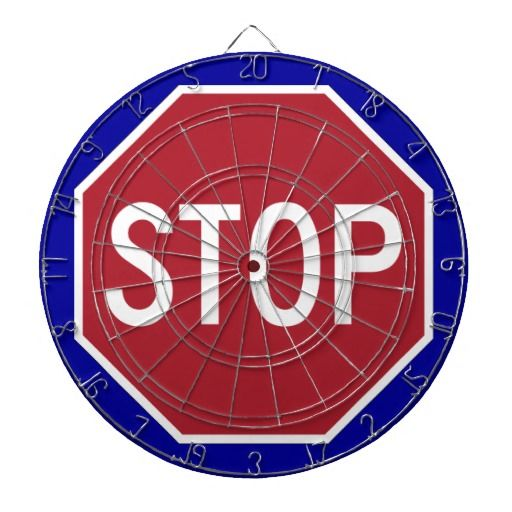 Stop Sign Dart Boards All Things Zazzle Dart Board