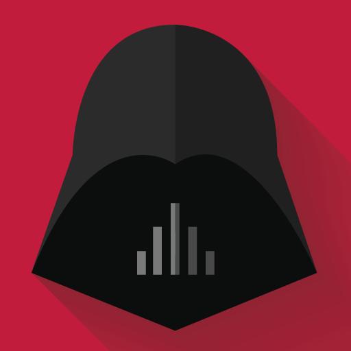 Darth Vader Icon Starwars Longshadow Flat Iconset Creativeflip
