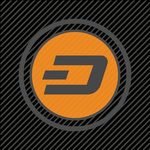 Blockchain, Coin, Cryptocurrency, Dash Icon