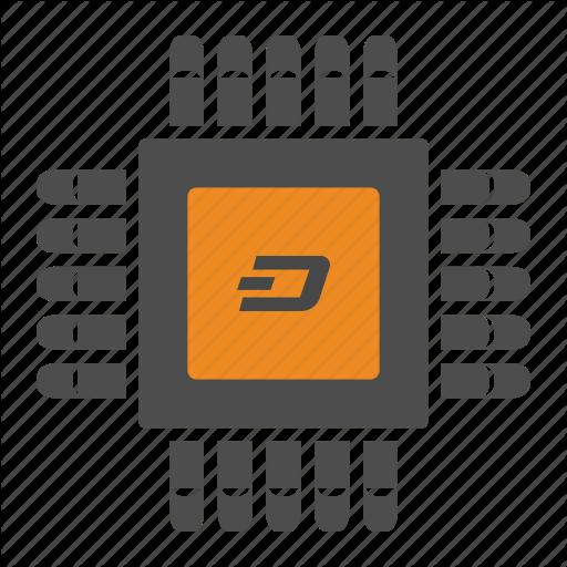 Blockchain, Cryptocurrency, Dash, Mining Icon