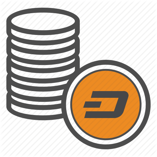 Coin, Coins, Cryptocurrency, Dash Icon