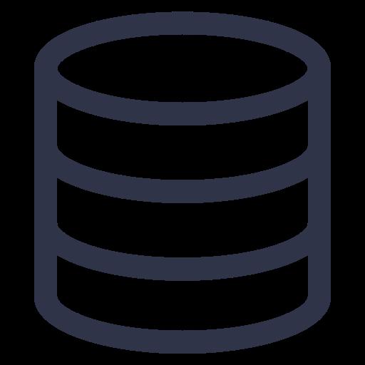 Data Source Management, Data Management, Data Processing Icon