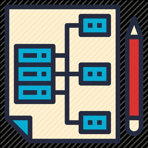 Architecture, Business, Data, Design, Model, Organization, System Icon