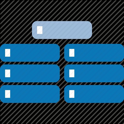 Big, Data, Databank, Database, Hosting, Server Icon