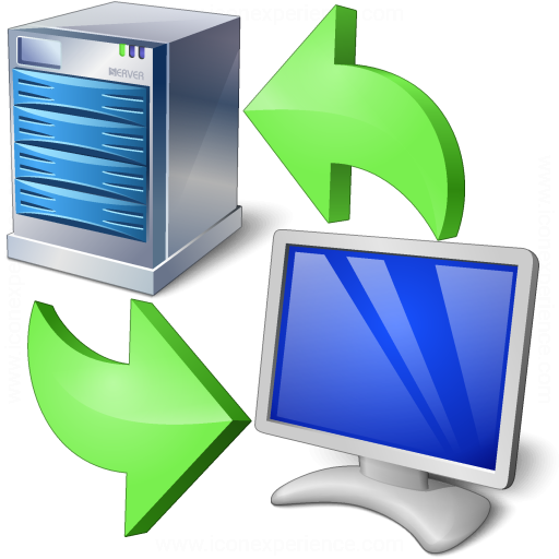 Iconexperience V Collection Server Client Exchange Icon