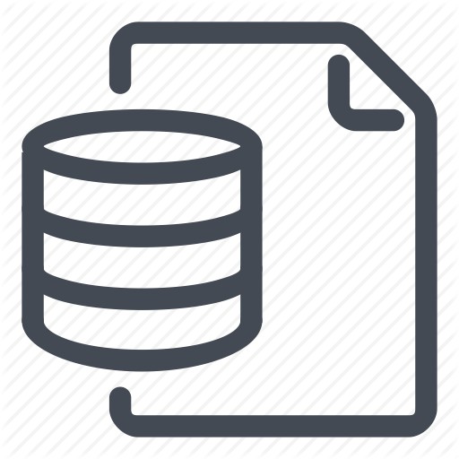 Data, Database, Document, Line Icon