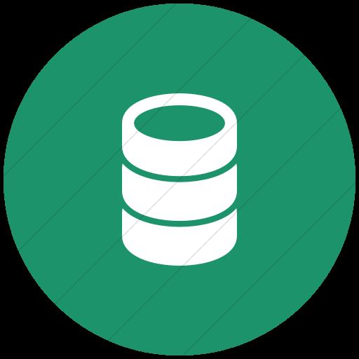 Flat Circle White On Aqua Raphael Database Icon