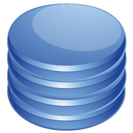 Database Icon Blue Images