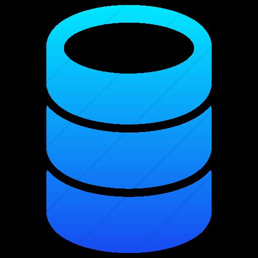 Simple Ios Blue Gradient Raphael Database Icon
