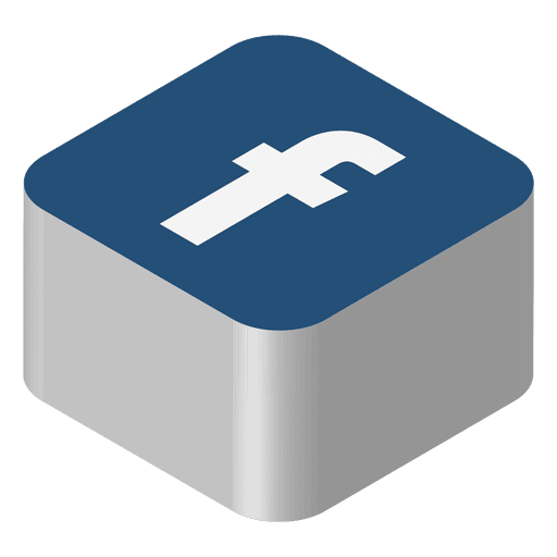 Facebook Isometric Icon