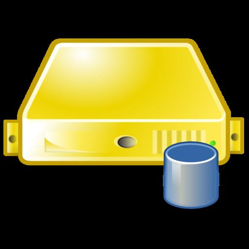 Server Database Yellow Icons, Free Server Database Yellow Icon
