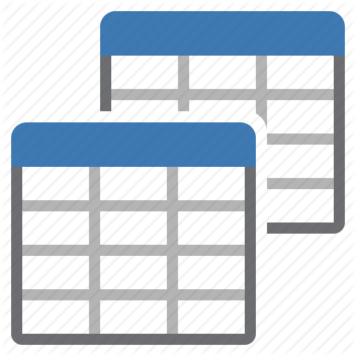 Multiple, Several, Tables Icon