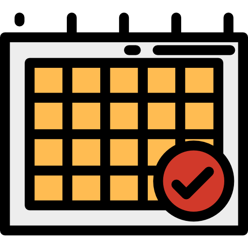 Checked, Schedule, Time And Date Icon