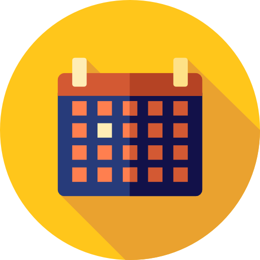 Date Flat Gold Icon