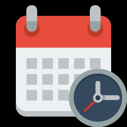 Calendar Clock Icon Small Flat Iconset Paomedia