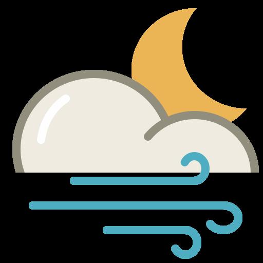 Wind Night Icon Lovely Weather Part Iconset Custom Icon Design