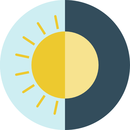 Miscellaneous, Moon, Sun, Day And Night Icon